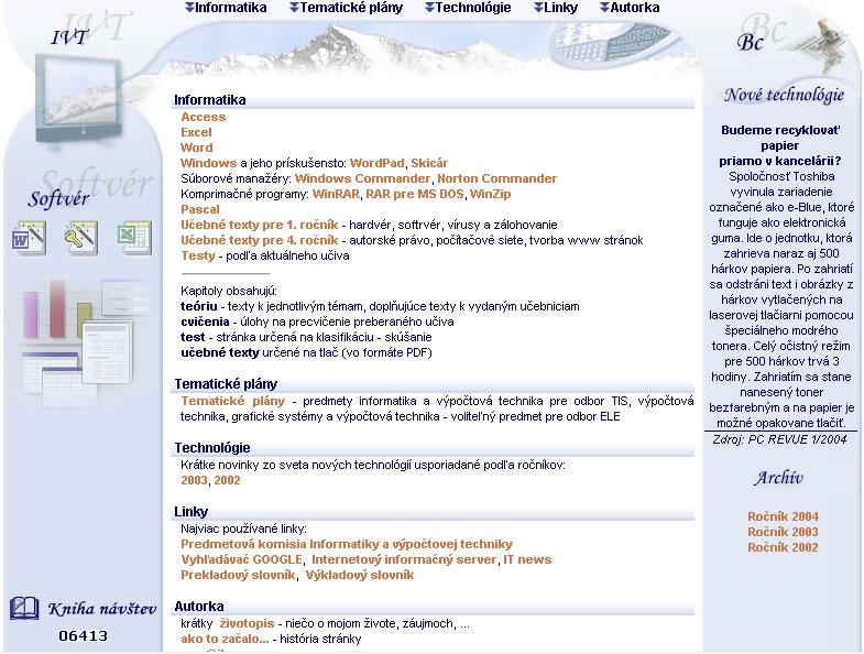 Výučbová stránka pre výpočtovú techniku 676e097a140